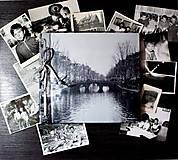 Papiernictvo - Fotoalbum klasický, polyetylénový obal s autorskou ilustráciou ,,Amsterdam,, - 9058268_