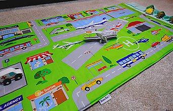 Detské doplnky - podložka na hranie - letisko - 9058021_