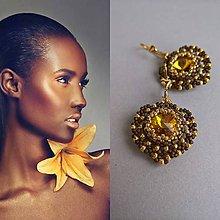 Náušnice - Yellow Crystal - 9055925_