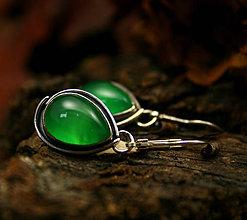 Náušnice - Náušnice so smaragdovým chalcedónom - 9056440_