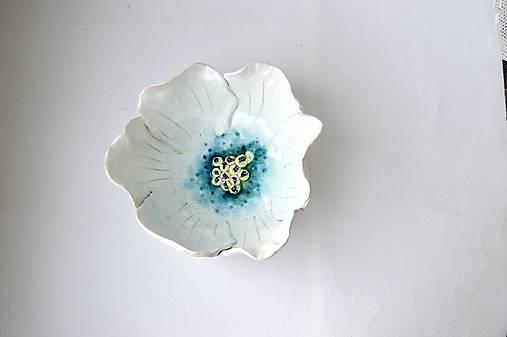 Keramická miska Biely kvet