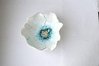 Nádoby - Keramická miska Biely kvet - 9056058_