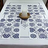 Úžitkový textil - Modro biele srdiečkové - prestieranie 30x40 - 9057980_