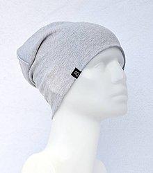 Detské čiapky - Čiapka Elastic sivá svetlá - 9057021_