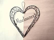 Dekorácie - veľké srdce - 9056222_