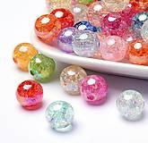 - Plastové korálky krakl 10mm, 20 ks - farebný mix - 9057970_