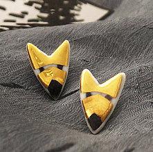 Náušnice - Zorro fox. - 9057299_