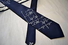 Doplnky - Úzká elektrikářská kravata - temně modrošedá - 9057789_