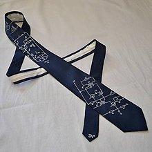 Doplnky - Úzká elektrikářská kravata - temně modrošedá - 9057787_
