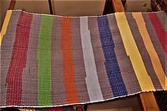 - Tkaný sivo-pestrofarebný koberec - 9058121_