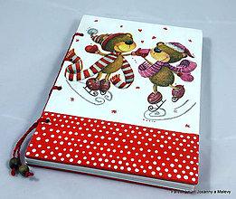 Papiernictvo - zápisník Korčuľujúci sa mackovia - 9057114_