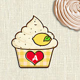 - Grafika na potlač jedlého papiera - ovocné koláčiky stracciatella (kárované košíčky) citrónová - 9054697_