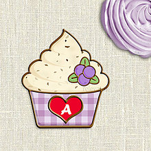 Grafika - Grafika na potlač jedlého papiera - ovocné koláčiky stracciatella (kárované košíčky) - 9055455_