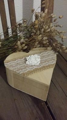 Krabičky - Natur krabička na prstienky - 9062248_
