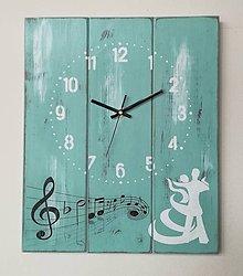 Hodiny - Nástenné hodinky - melódia - 9059166_