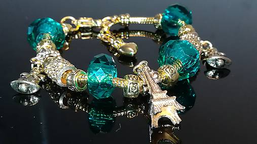 Pandora Style náramok - SMARAGD - Vianočný Paríž   kamalinka - SAShE ... 19d97a9f1cd