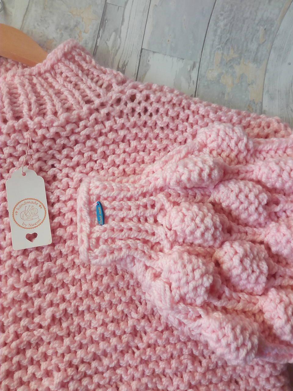 Oversized sveter so stojačikom s bublinovými rukávmi, akryl