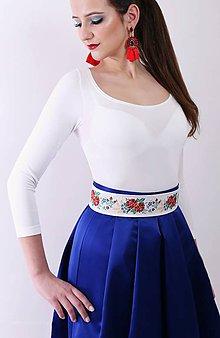 Šaty - Saténová spoločenská sukňa - 9058884_