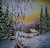 Obrazy - Zima - olejomaľba - 9059007_
