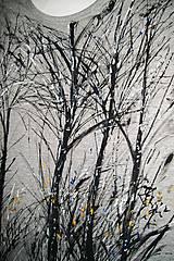 Tričká - Stromy - maľované pánske tričko - 9061441_