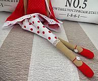Bábiky - Červená anjelka - 9062185_