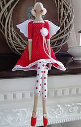 Bábiky - Červená anjelka - 9062186_