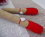 Bábiky - Červená anjelka - 9062187_