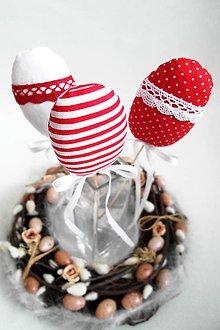 Dekorácie - Veľkonočné vajíčka-červené - 9060172_