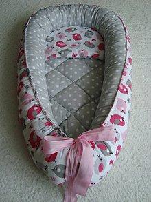 Textil - Hniezdo pre bábätko s vtáčikmi - 9060338_