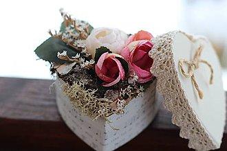Dekorácie - Kvetinová krabička - 9060049_