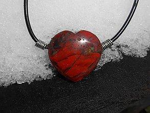 Náhrdelníky - jasper heart - 9064073_