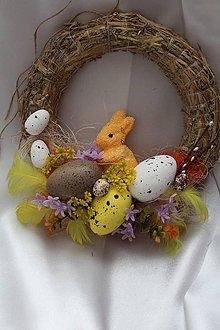 """Dekorácie - Veľkonočný veniec na dvere """"zajačik"""" - 9059145_"""