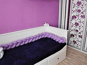 Textil - Korbáčik detský mantinel lila - 9061500_