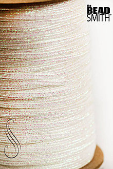 Galantéria - sutaška perleťová biela Iris- USA /2,5mm/1m - 9063925_