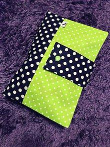 Detské doplnky - Plienkovník (obal na plienky) (Zelená) - 9061183_