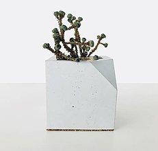 Nádoby - Betónový kvetináč Cube - šedý NEW - 9060259_