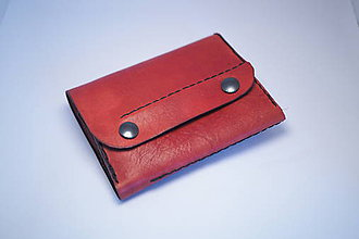 Peňaženky - Kožená peňaženka MontMat-tmavě červená - 9060536_