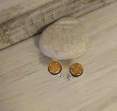 """Šperky - Manžetové gombíky - mini (""""Štvorlístok"""" - živicové) - 9062319_"""