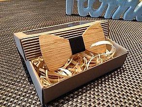 Doplnky - Pánsky drevený motýlik - 9058738_