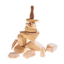 Hračky - Pišlické balančné kamene svetlé - 9064004_