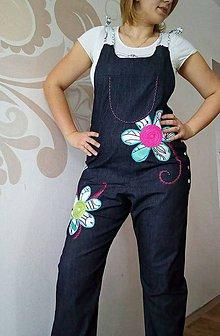 Nohavice - Lacláčky Maxi květy - 9061202_