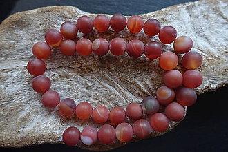 Minerály - Achát červený matný 10mm - 9060366_