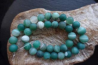 Minerály - Achát zelený matný 10mm - 9060419_