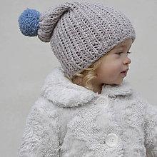 Detské čiapky - Merinová čiapočka - 9062512_