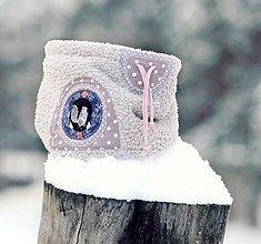 Detské doplnky - Sněží na veverku šedý - holčičí - 9059352_