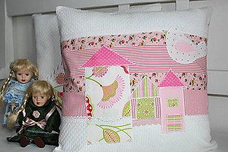 Úžitkový textil - vankúš ružová ulica - 9059149_