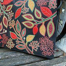 Na notebook - Zdivočelá zahrada - kožená taška na notebook - 9063981_