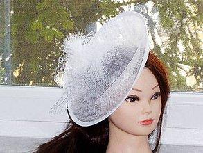 Ozdoby do vlasov - Svadobný klobúčik - 9060613_