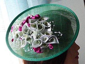 Ozdoby do vlasov - Spoločenský klobúčik (fascinátor) - 9060922_
