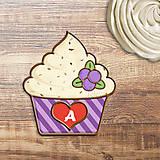 - Grafika na potlač jedlého papiera - ovocné koláčiky stracciatella (pásikavé košíčky) čučoriedková - 9059586_